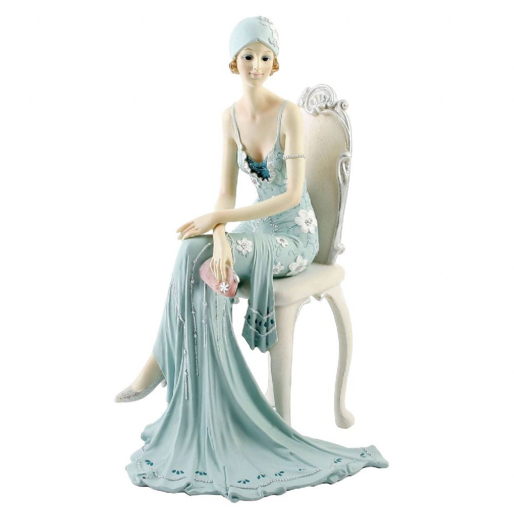 Juliana Broadway Belles Art Deco Lady Figurine Statue Sat On Chair 58379